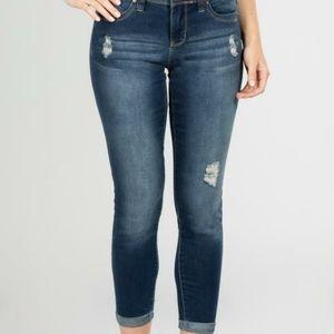 Cuffed jean size 8
